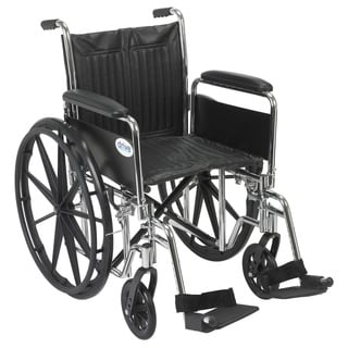 Drive Medical Chrome Sport 20-inch Wheelchair
