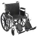 Chrome Sport 20-inch Dual Axle Wheelchair
