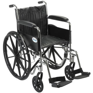 Drive Medical CS18FA-SF Chrome Sport 18-inch Dual Axle Wheelchair