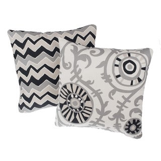 Soho Reversible Square Decorative Pillows (Set of 2)