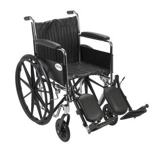 Drive Medical CS18FA-ELR Chrome Sport 18-inch Dual Axle Wheelchair