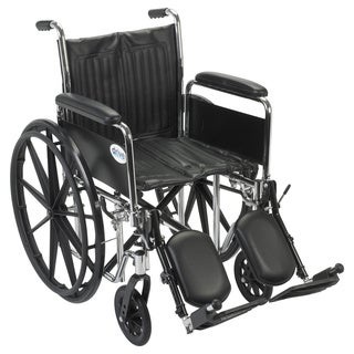 Drive Medical CS18DFA-ELR Chrome Sport 18-inch Dual Axle Wheelchair