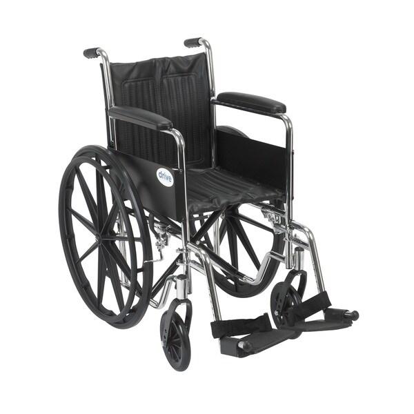 Drive Medical Chrome Sport Dual Axle Wheelchair
