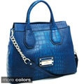 Anais Gvani Gold Chain Large Croco Tote Bag