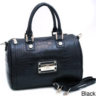 Anais Gvani Croco Embossed Satchel