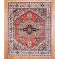 Indo Hand-knotted Serapi Rust/ Beige Wool Rug (8&#39; x 10&#39;)