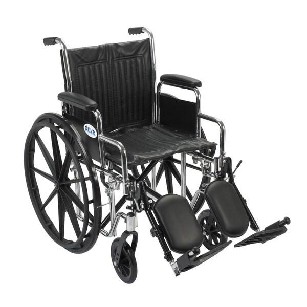 Drive Medical CS18DDA-ELR Chrome Sport 18-inch Dual Axle Wheelchair