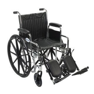 Drive Medical CS18DDA-ELR Chrome Sport 18-inch Dual Axle Wheelchair