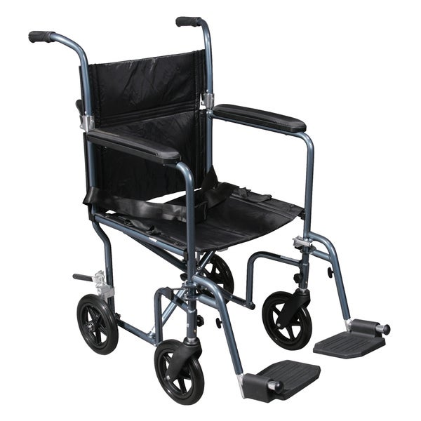 Drive Medical Deluxe Lightweight Transport Wheelchair with Removable Wheels