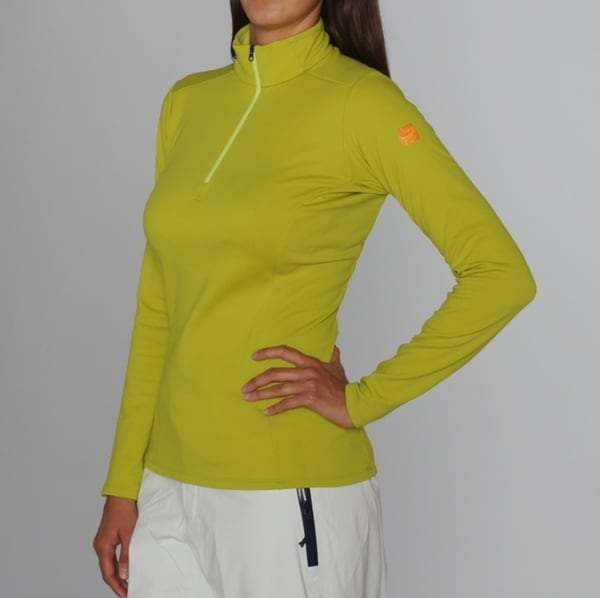 Arc'teryx Women's 'Phase SV' Chartreuse Zip Neck (M)
