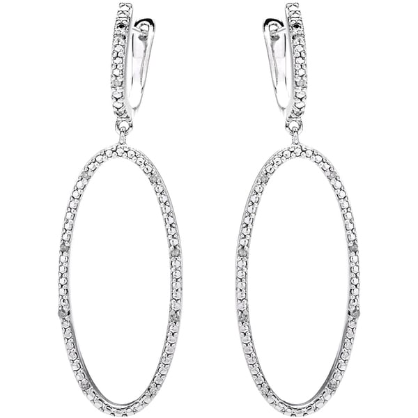 Miadora Sterling Silver 1/10ct TDW Diamond Dangle Earrings (H-I, I2-I3)