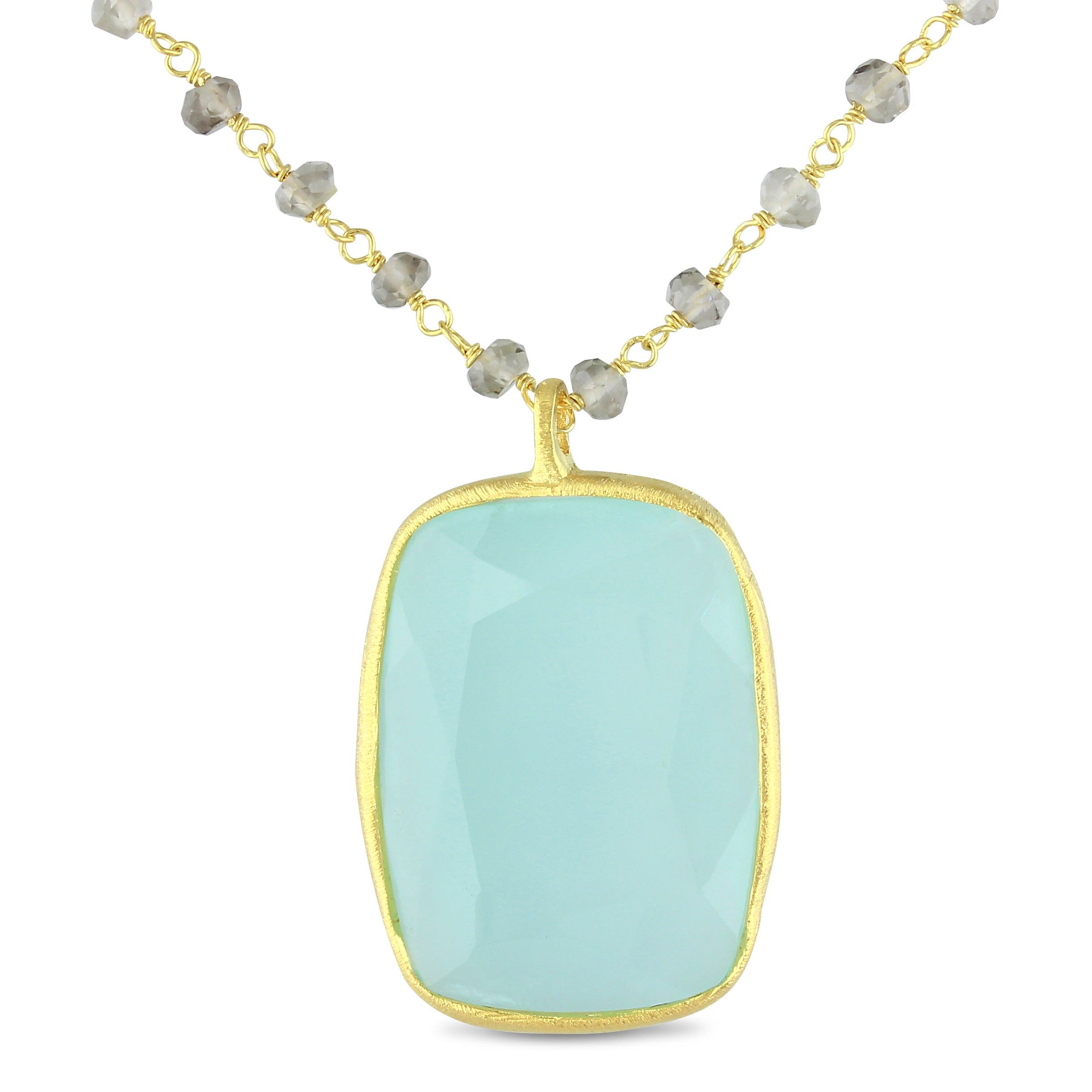 Miadora 18k Yellow Goldplated Silver Chalcedony Necklace