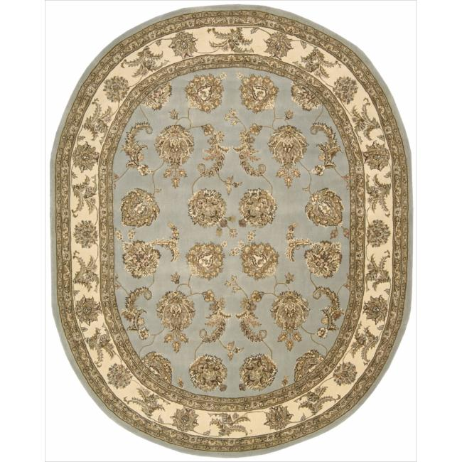 Nourison 2000 Hand-tufted Kashan Blue Cloud Rug (7'6 x 9'6)