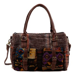 Nikky Felicity Plaid Tribal Boston Bag