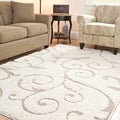 Safavieh Ultimate Cream/ Beige Shag Rug (6' x 9')