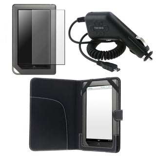 BasAcc Case/ Screen Protector/ Charger for Barnes & Noble Nook Color