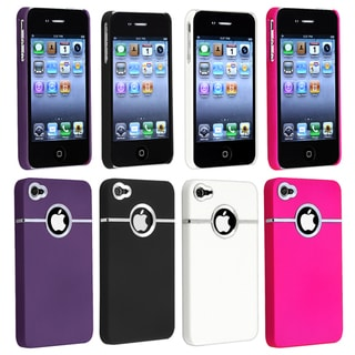 BasAcc Black/ Purple/ White/ Pink Case for Apple® iPhone 4/ 4S