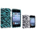 BasAcc White/ Blue Zebra Case for Apple� iPod touch 4th Generation