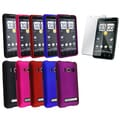 BasAcc Black/ Pink/ Red Rubber Case/ Screen Protector for HTC EVO 4G