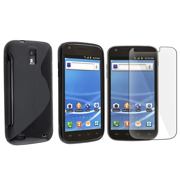 INSTEN TPU Phone Case Cover/ Screen Protector for Samsung Galaxy S II SGH-T989