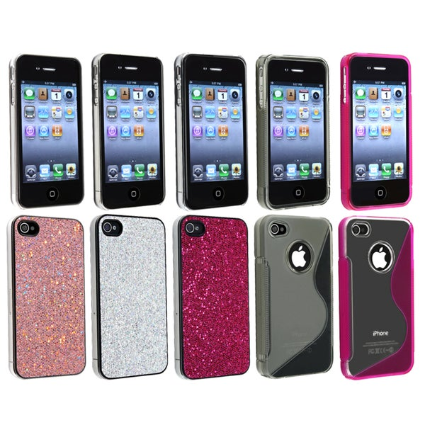 BasAcc Bling Case/ Smoke/ Pink TPU Case for Apple® iPhone 4/ 4S