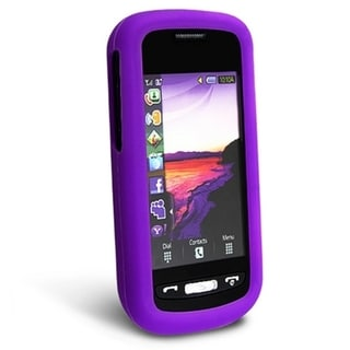 BasAcc Dark Purple Silicone Skin Case for Samsung� Solstice A887