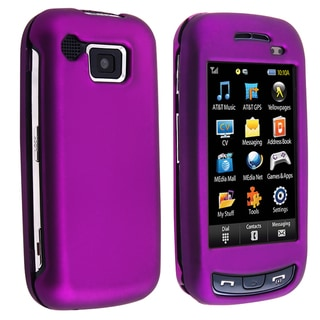 BasAcc Purple Snap-on Rubber Coated Case for Samsung� Impression A877