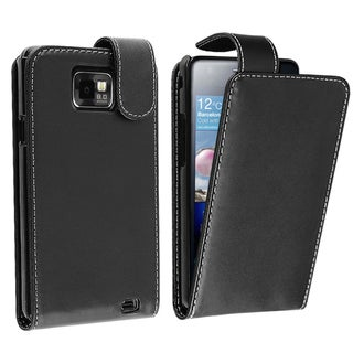 BasAcc Black Leather Case for Samsung� Galaxy S II/ S2 i9100