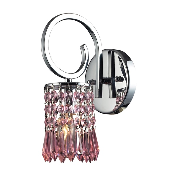 Elk Lighting Optix Collection 1 Light Wall Bracket With Rose Crystal Shade