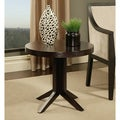 Abbyson Living Wilshire Round Espresso Tea End Table