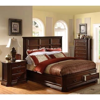 Furniture of America Sherwood 3-piece Queen-size Bed with Nightstand and Chest Set