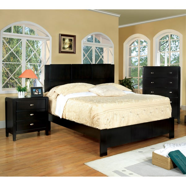 Furniture of America Bennett 3-piece Queen-size Bed with Nightstand and Chest Set