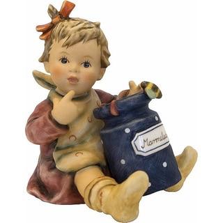 M I Hummel 'Marmalade Lover' Porcelain Blue Jug