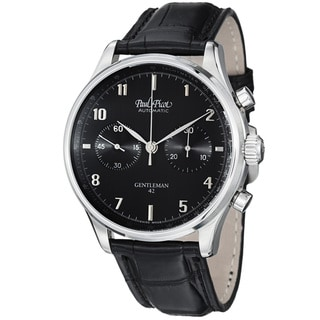 Paul Picot Men's 'Gentleman' Black Dial Chronograph Automatic Watch