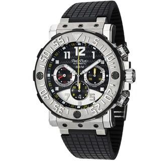 Paul Picot Men's P4030.TG.5010.3301 'C-Type' Black Dial Rubber Strap Titanium Watch
