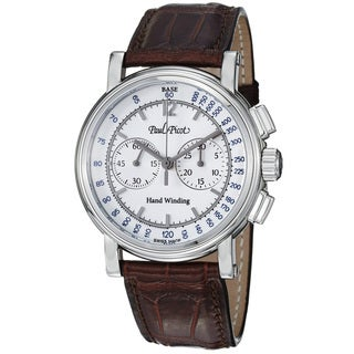 Paul Picot Men's P3813.SG.1231.1601 'Technicum' White Dial Brown Leather Strap Watch