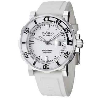 Paul Picot Men's P1151.B.SG.4000.1614 'Yachtman' White Dial White Rubber Strap Watch