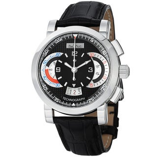 Paul Picot Men's P3434Q.SG.1022.3401 'Technograph' Black Dial Chronograph Automatic Watch