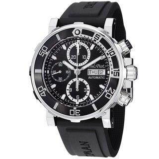 Paul Picot Men's 'Yachtman' Black Dial Chronograph Automatic Watch