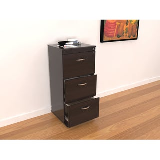 Inval Three Drawer File Cabinet