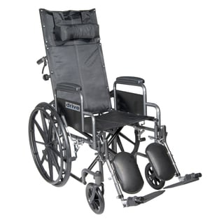 Drive Medical Silver Sport 18-inch Reclining Wheelchair