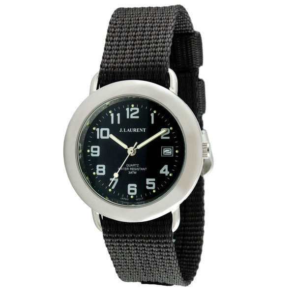 Jacques Laurent Men's Interchangeable Strap Watch Set