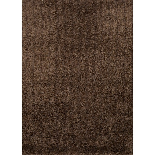 Hand-tufted Hedwig Brown Rug (7'6 x 9'6)