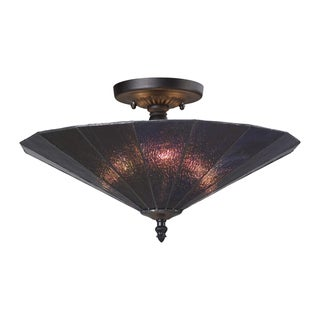 Landmark Lighting Lumino Translucent Purple/ Matte 3-Light Semi-Flush