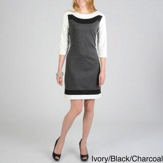 Sharagano Women's Color Block Dress