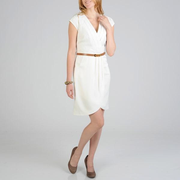 Sharagano Women's Belted Career Dress