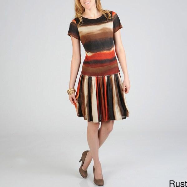 Sharagano Women's Tie Dye Dress