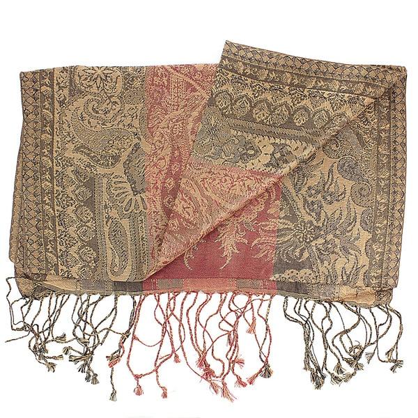 Handwoven Silk Antique Classic Paisley Scarf (India)