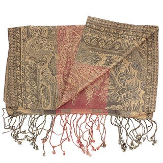 Handwoven Silk Antique Classic Paisley Scarf (India)