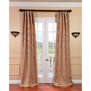 Genevieve Warm Taupe Faux Silk Jacquard Curtains